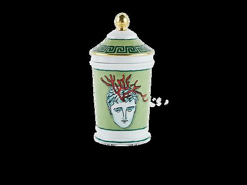 Vaso con coperchio - Nettuno Verde