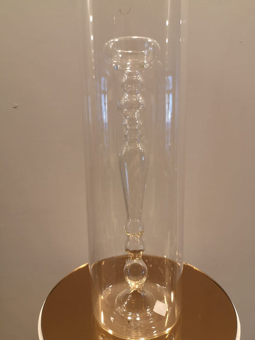 Vaso - portacandela in vetro