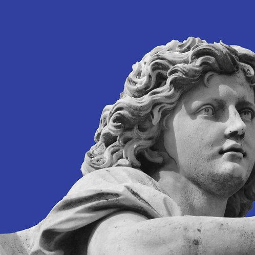 Angelo 06 - blu cielo 50x50cm