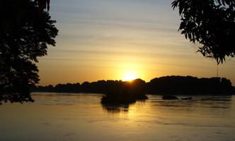 The view from my tent, Nile River, Juba