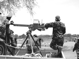 Soldiers at Payii Bridge opening, (South Sudan)