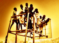 Kids playing at Freedom Square, Rumbek