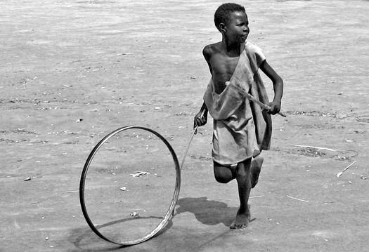 Kid plays at Freedom Square, Rumbek, (South Sudan)