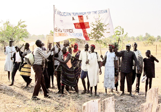 Christian parade in South Sudan