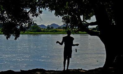 Fishing on Nile River, Juba