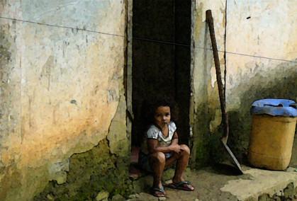 Small kid in a fisherman's village, Brazil
