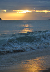 Waves at Sunset, South Brazil