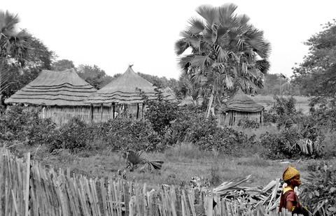 Village at Rumbek (South Sudan)