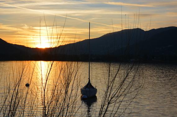 Sunset on Lugano Lake