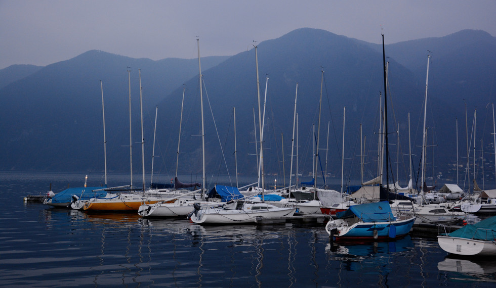 Sailing Club late afternoon, Lugano