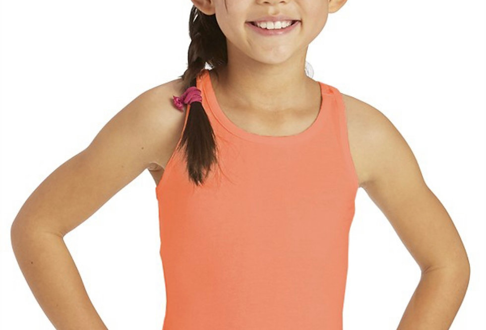 SALMON color lace razorback Youth top