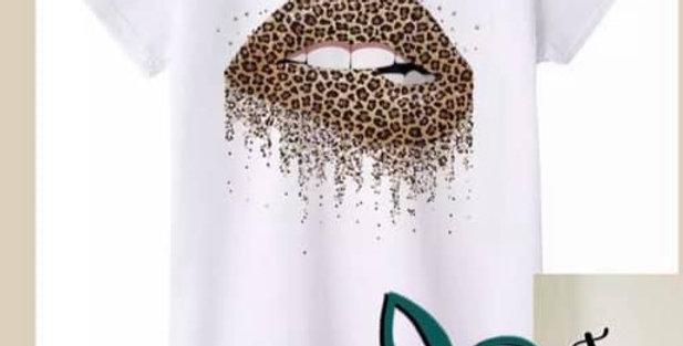 Leopard Lip Tee