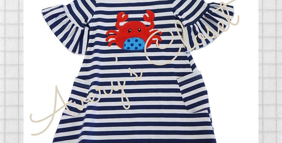 Stripe Crab Pocket Dress
