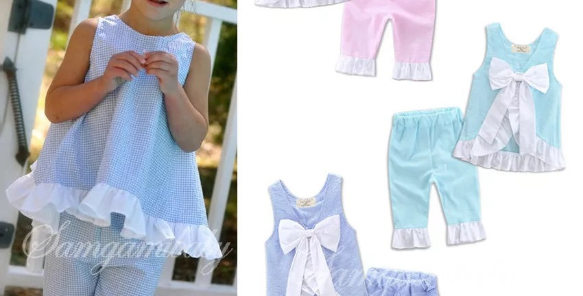 Gingham two pc set