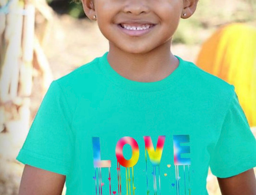 LOVE Turquoise youth top