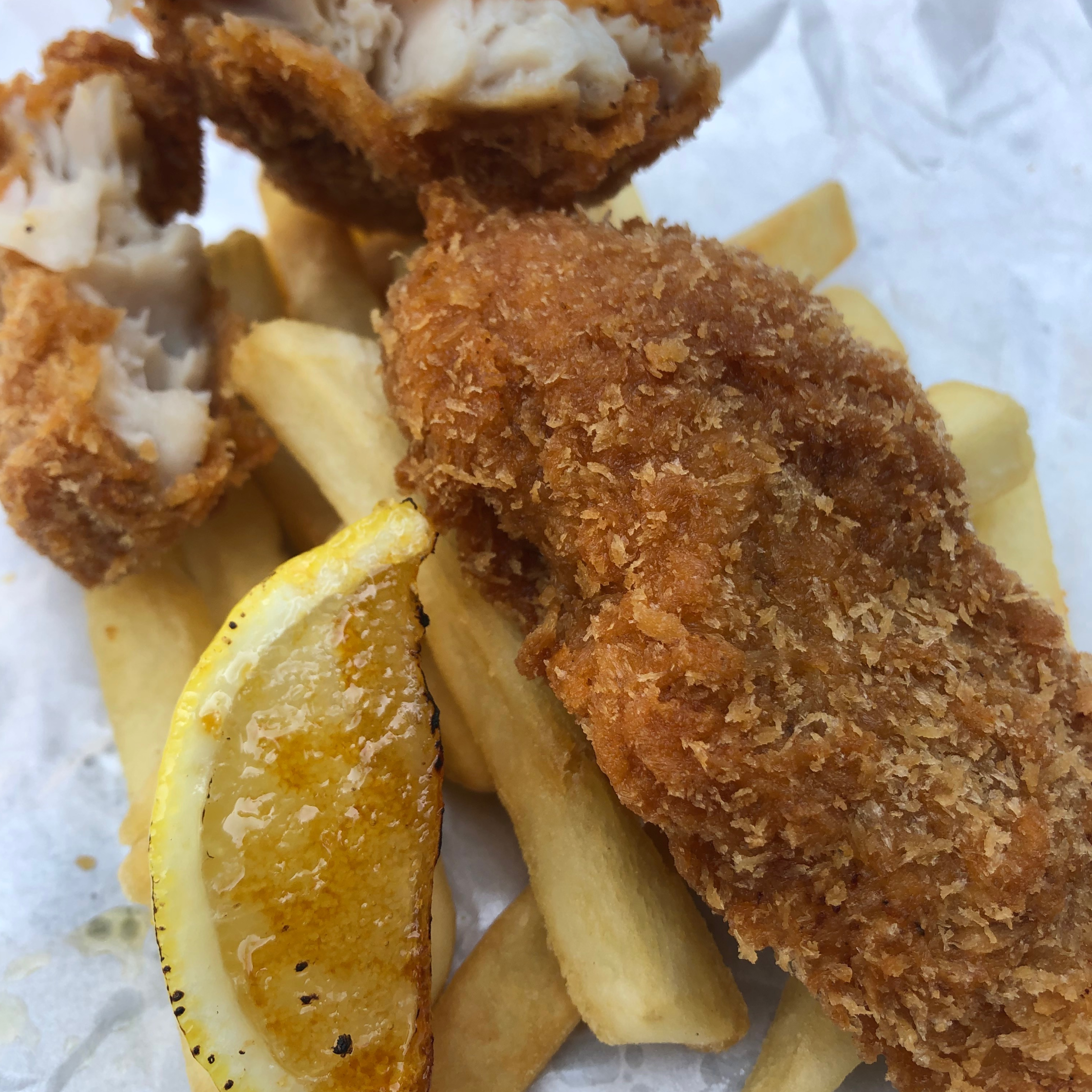 """ALT=""""FISH AND CHIP BREAD AND HEARTH"""""""