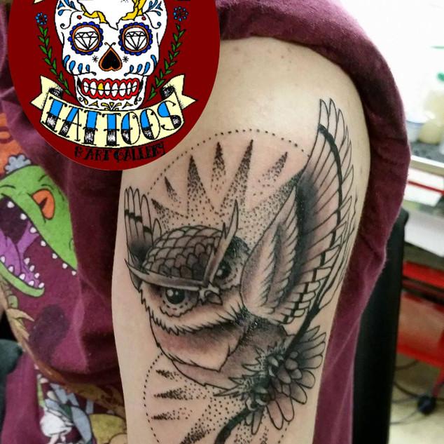 Demon Dave Dot Work Owl.jpg