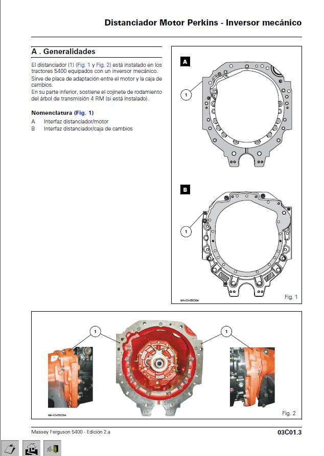 Massey Ferguson manuel réparation Manual de Taller -Service