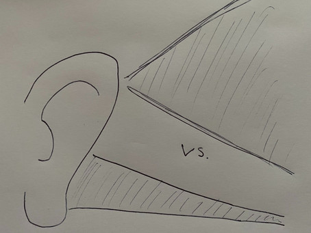 Listening: exploring vs. pinpointing