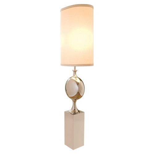 Switch on the lights big pill 79 floor lamp global views home originality and a hint of traditionalism beautifully blend in this big pill nickel floor lamp elegantly positioned atop a solid rectangular pedestal aloadofball Images