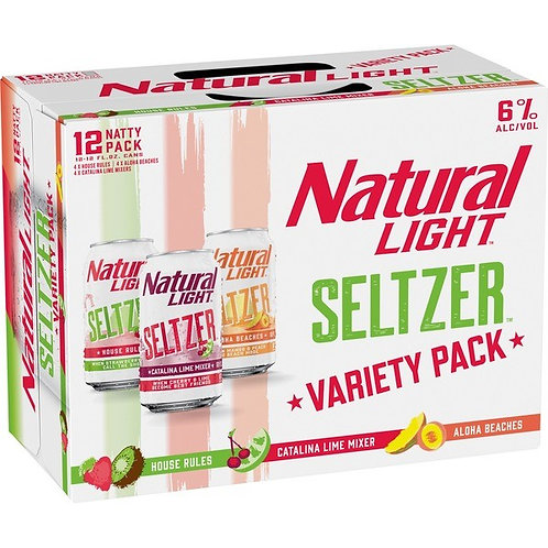 Natural Light Seltzer Variety Pack 12 Pack 12 oz Cans