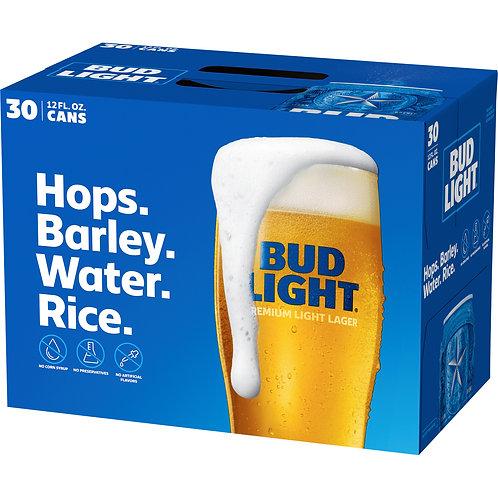 Bud Light  30 Pack 12 oz Cans