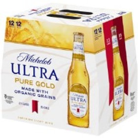 Michelob Ultra Pure Gold   12 Pack 12 oz Bottles