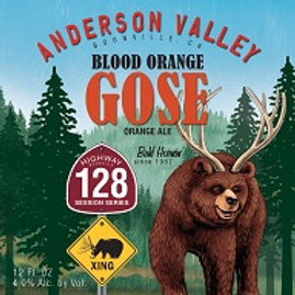 Anderson Valley Blood Orange Gose 24 Pack 12 oz Bottles