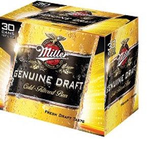 Miller Genuine Draft 30 Pack 12 oz Cans
