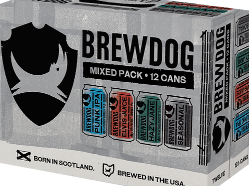 Brew Dog Variety Pack 12 Pack 12 oz Cans