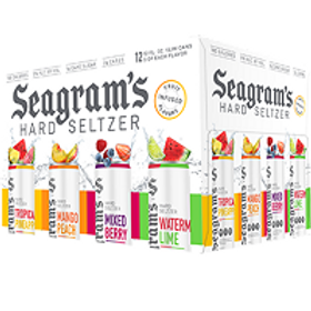 Seagrams Seltzer Variety Pack 12 Pack 12 oz Cans