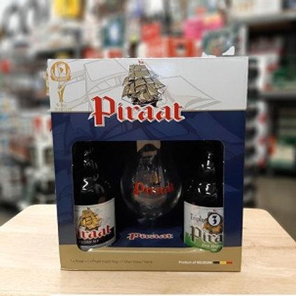 Piraat Gift Pack 2 Pack 11.2 oz Bottles + Glass
