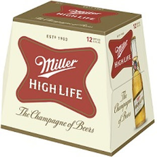 Miller High Life  12 Pack 12 oz Bottles