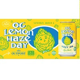 Alpine OG Lemon Haze IPA 6 Pack 12 oz Cans