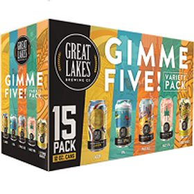 Great Lakes Gimme 5 Variety Pack 15 Pack 12 oz Cans