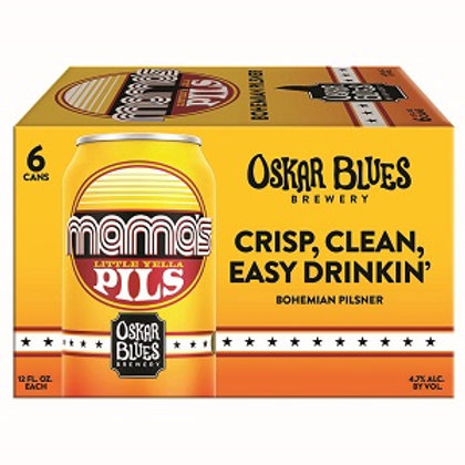 Oskar Blues Mamas Little Yella Pils 6 Pack 12 oz Cans