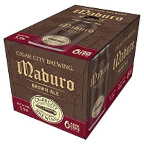 Cigar City Maduro Brown 6 Pack 12 oz Cans