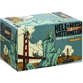 21st Amendment Hell or High Watermelon Pomegranite 6 Pack 12 oz Cans