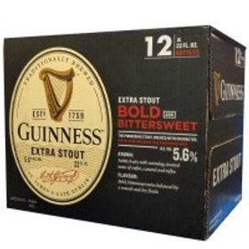 Guinness Extra Stout 12 Pack 12 oz Bottles