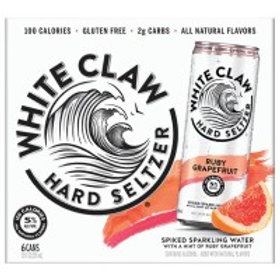 White Claw Grapefruit 6 Pack 12 oz Cans
