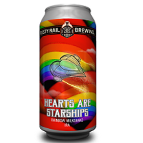 Rusty Rail Hearts are Starships 4 Pack 16 oz Cans