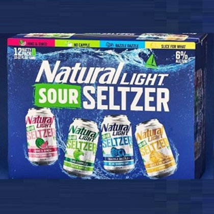 Natural Light Sour Seltzer Variety Pack 12 Pack 12 oz Cans