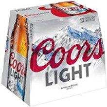 Coors Light 12 Pack 12 oz Bottles