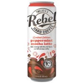 Rebel Peppermint Mocha Hard Latte 4 Pack 11.2 oz Cans