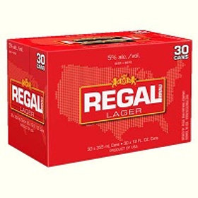 Regal Lager 30 Pack 12 oz Cans