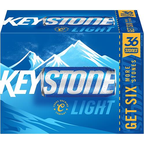 Keystone Light 36 Pack 12 oz Cans