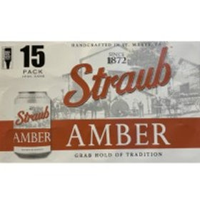Straub Amber 15 Pack 12 oz Cans