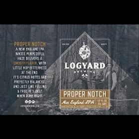 Logyard Proper Notch NE 2X IPA 4 Pack 16 oz Cans