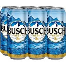 Busch 6 Pack 16 oz Cans