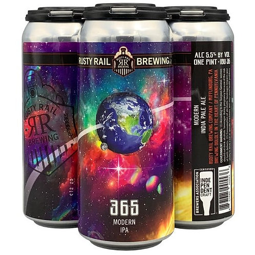 Rusty Rail 365 IPA 4 Pack 16 oz Cans